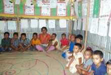 Pre-school children who receive health checkups from Samhati
